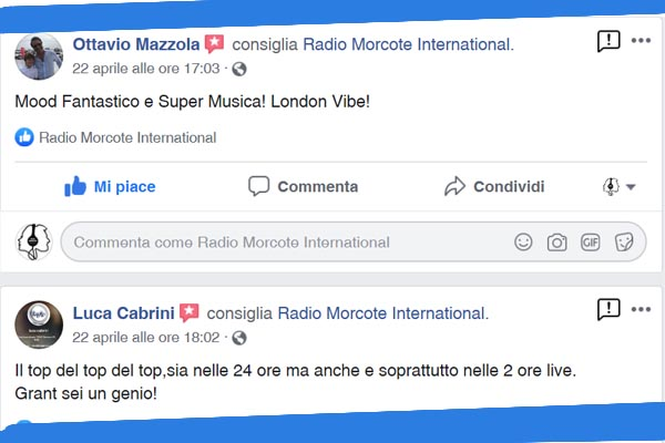 commenti facebook_radio Morcote International